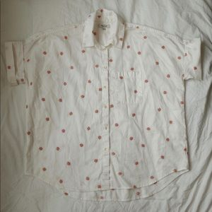 Madewell Embroidered Daisy Courier Shirt